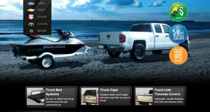 Background Images for Truck Canopy Manufacturer's Site