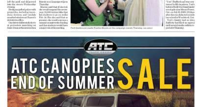 Truck Canopy Newspaper Ad