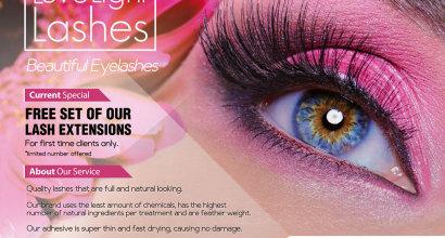 Eyelash Extensions Promotional Flyer